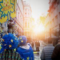 """Der """"People`s Vote March"""" richtet sich gegen die Politik von Premierminister Boris Johnson"""